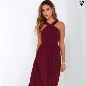 Lulu's Air of Romance Burgundy prom dress NWOT